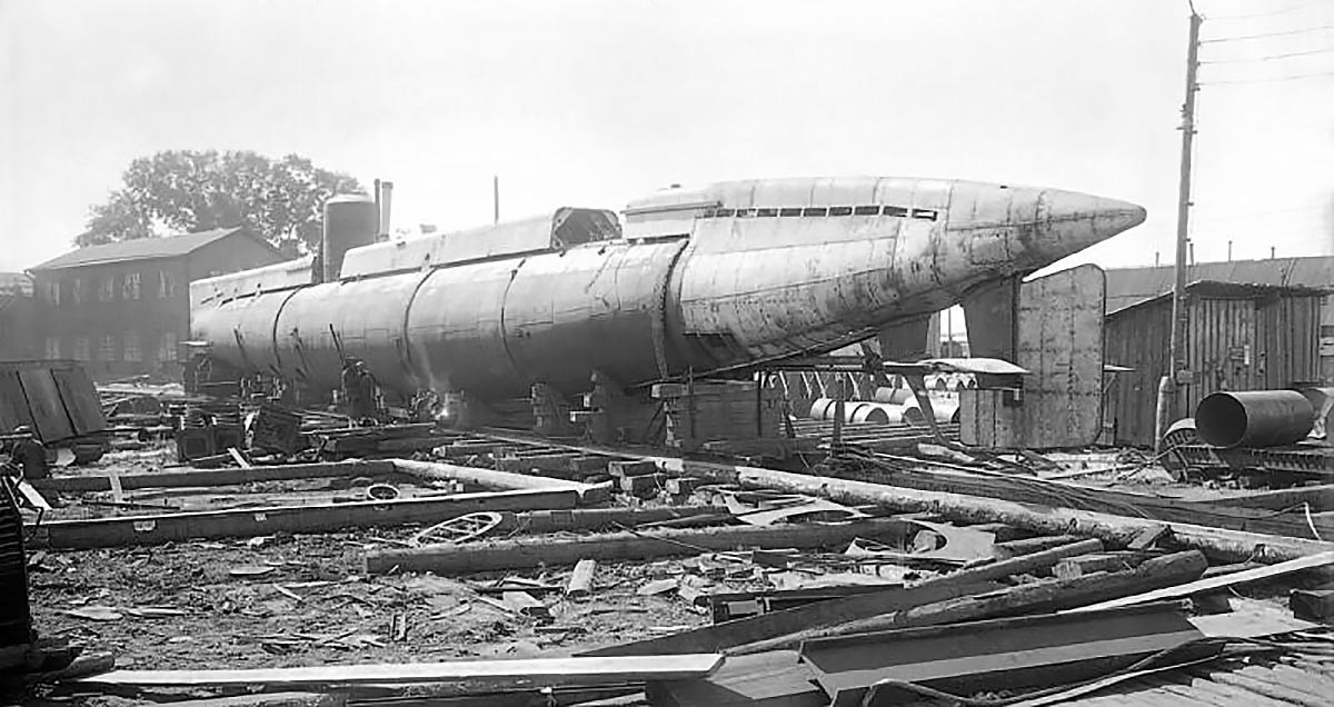 The plans of Krasnoe Sormovo.  Submarine, 1938.