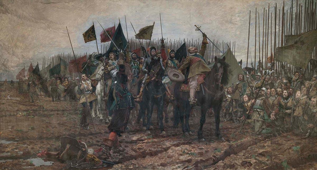 Густав II Адолф преди Битката при Лютцен, Нилс Форсберг, 1632