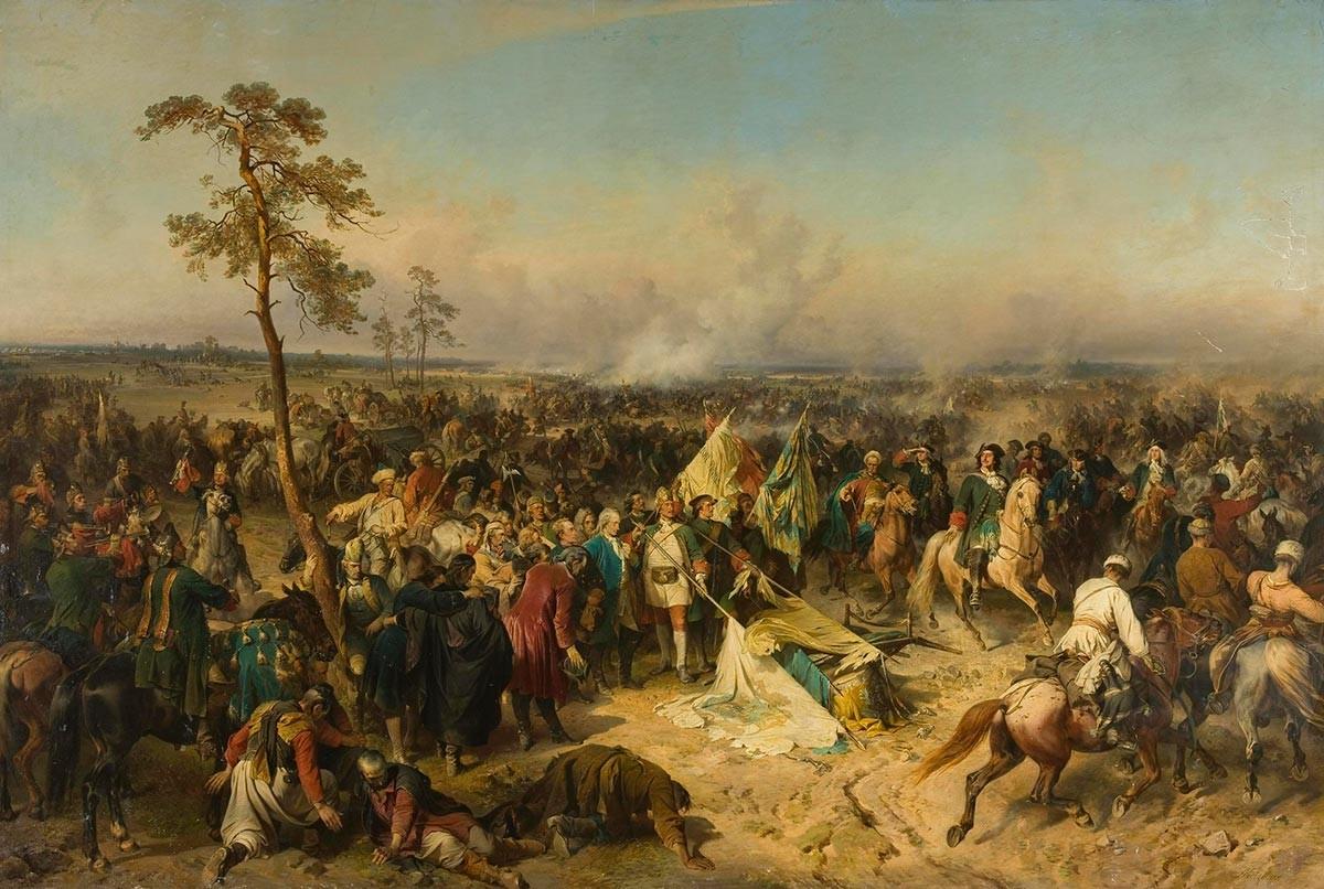 Победата в Полтава, Александър Евстафиевич Коцебуе, 1862