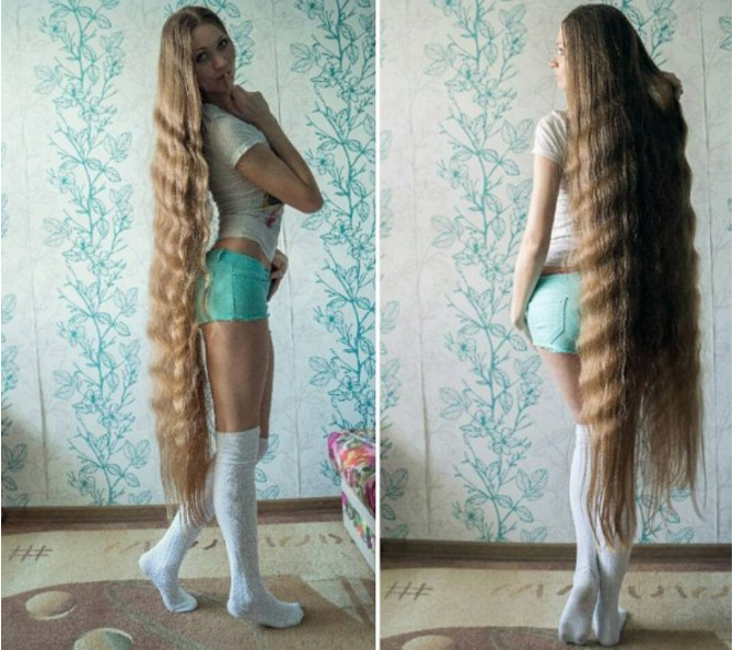 Rapunzel Rusia: Tak Akan ke Salon Sebelum Rambut Mencapai Kaki