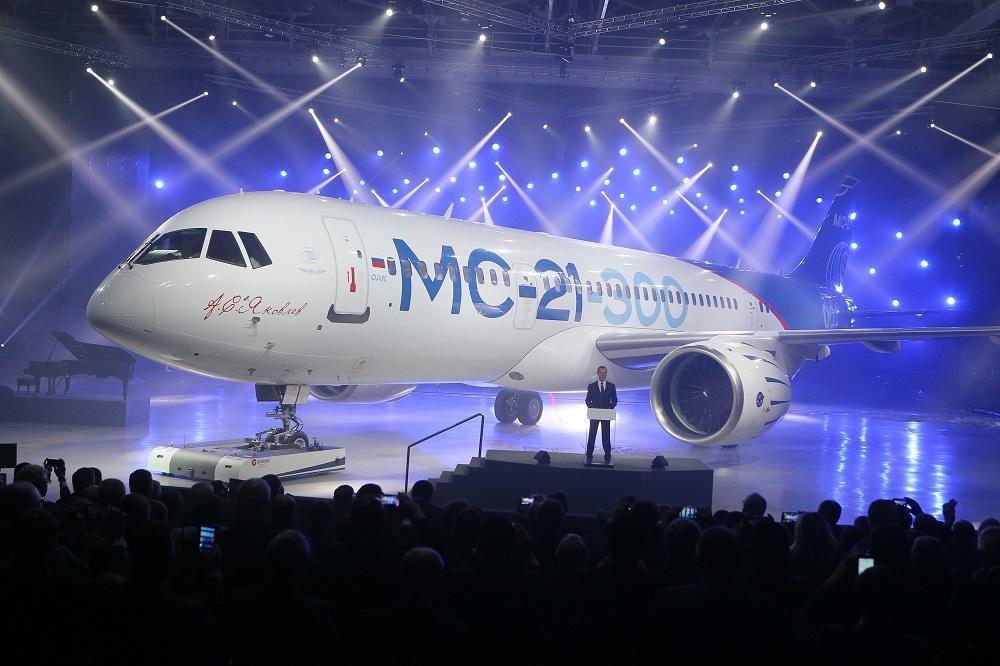 Dipamerkan ke Publik, MS-21 Siap Bersaing dengan Boeing di Pasar Domestik