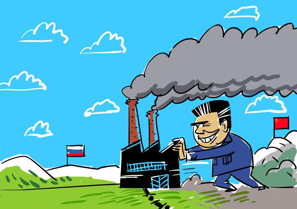 China empurra poluição em troca de benefícios width=
