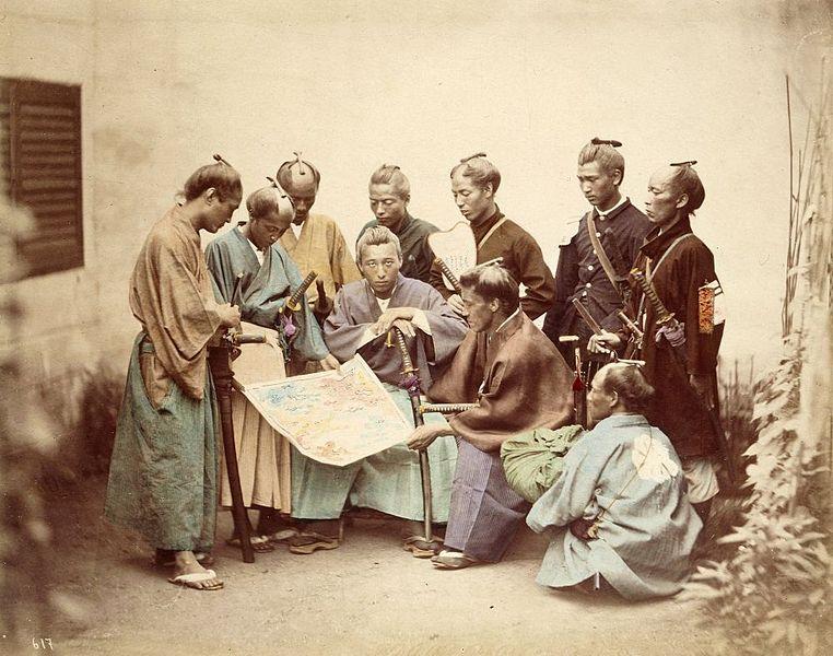 Satsuma Samurai during the Boshin War period. Source: Felix Beato/Wikipedia.org