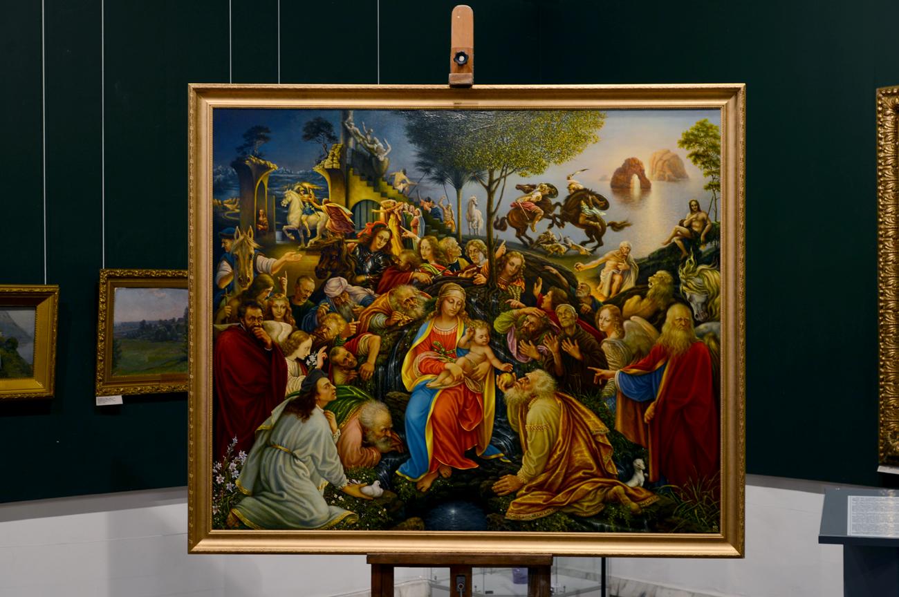 """Un pittore siberiano completa """"L'adorazione dei Magi"""" di Leonardo"""
