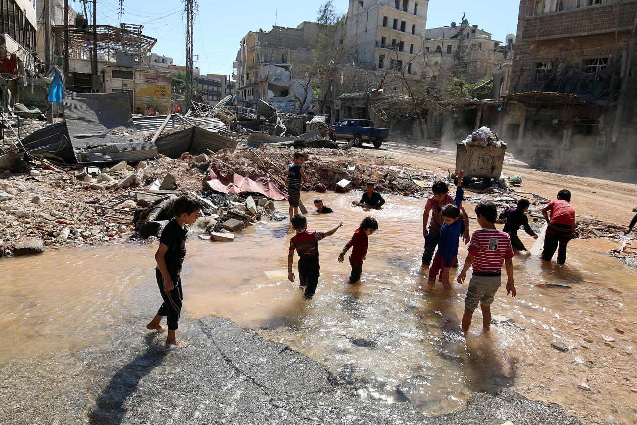 Palang Merah Sambut Baik Rencana Gencatan Senjata Rusia di Aleppo