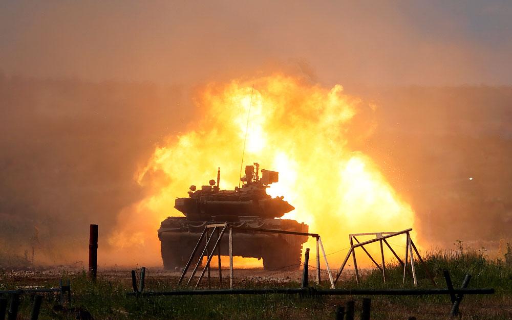 Mengapa Tank T-90 Rusia Tak Hancur Dihantam Rudal TOW AS?
