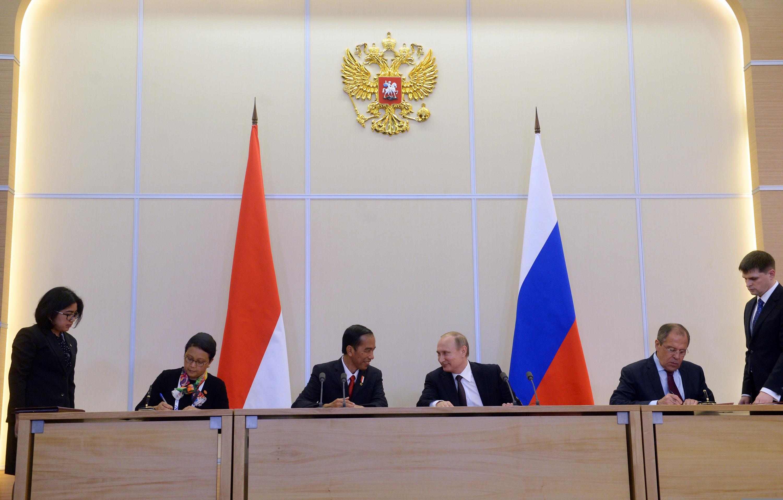 Rusia-Indonesia Tanda Tangani Kesepakatan Kerja Sama Pertahanan