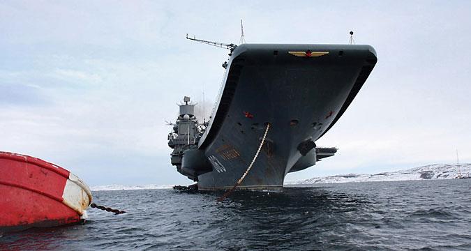 Nove curiosidades a bordo do Almirante Kuznetsov width=