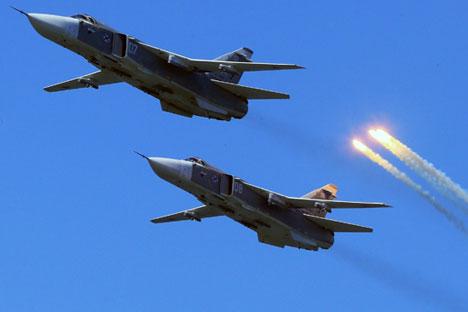 Jets rusos contra el Estado Islámico