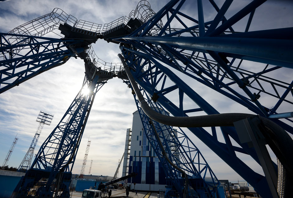 Launch pad at the new Vostochny Cosmodrome. Source: Ria Novosti/Sergey Mamontov