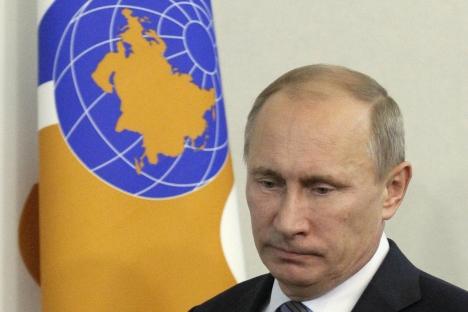 Opositor abre processo contra presidente russo width=