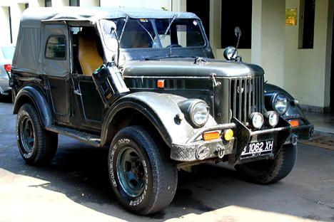 Tahun 1958, Mobil Uni Soviet GAZ-69 Taklukkan Gunung Api Jawa
