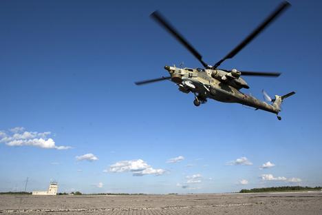 Uji Coba Perang, Helikopter Rusia Pergi Berburu di Irak
