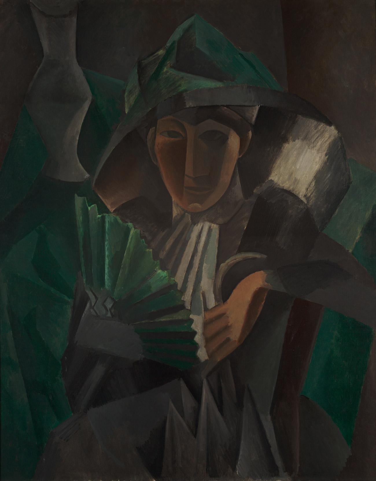 Pablo Picasso, La Dame à l'éventail, 1909.n