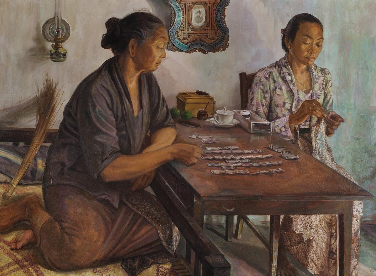 Museum Rusia Restorasi dan Pamerkan Lukisan Langka Indonesia dari Era 50-an