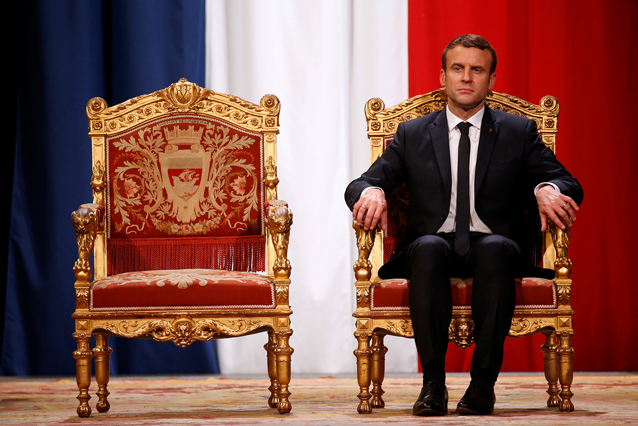 Putin congratulated Macron upon taking office as France' new president. Source: Reuters