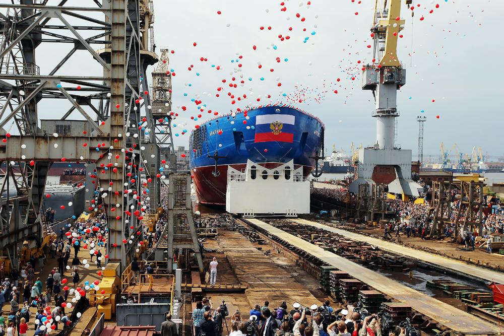 Rusia Luncurkan Kapal Pemecah Es Terbesar di Dunia