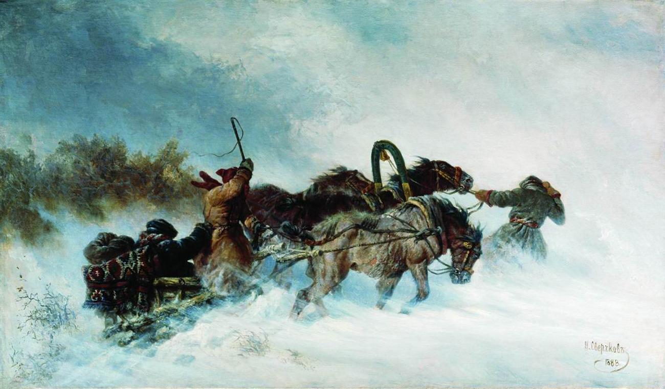 Troïka en hiver. 1888, Nikolaï Svertchkov