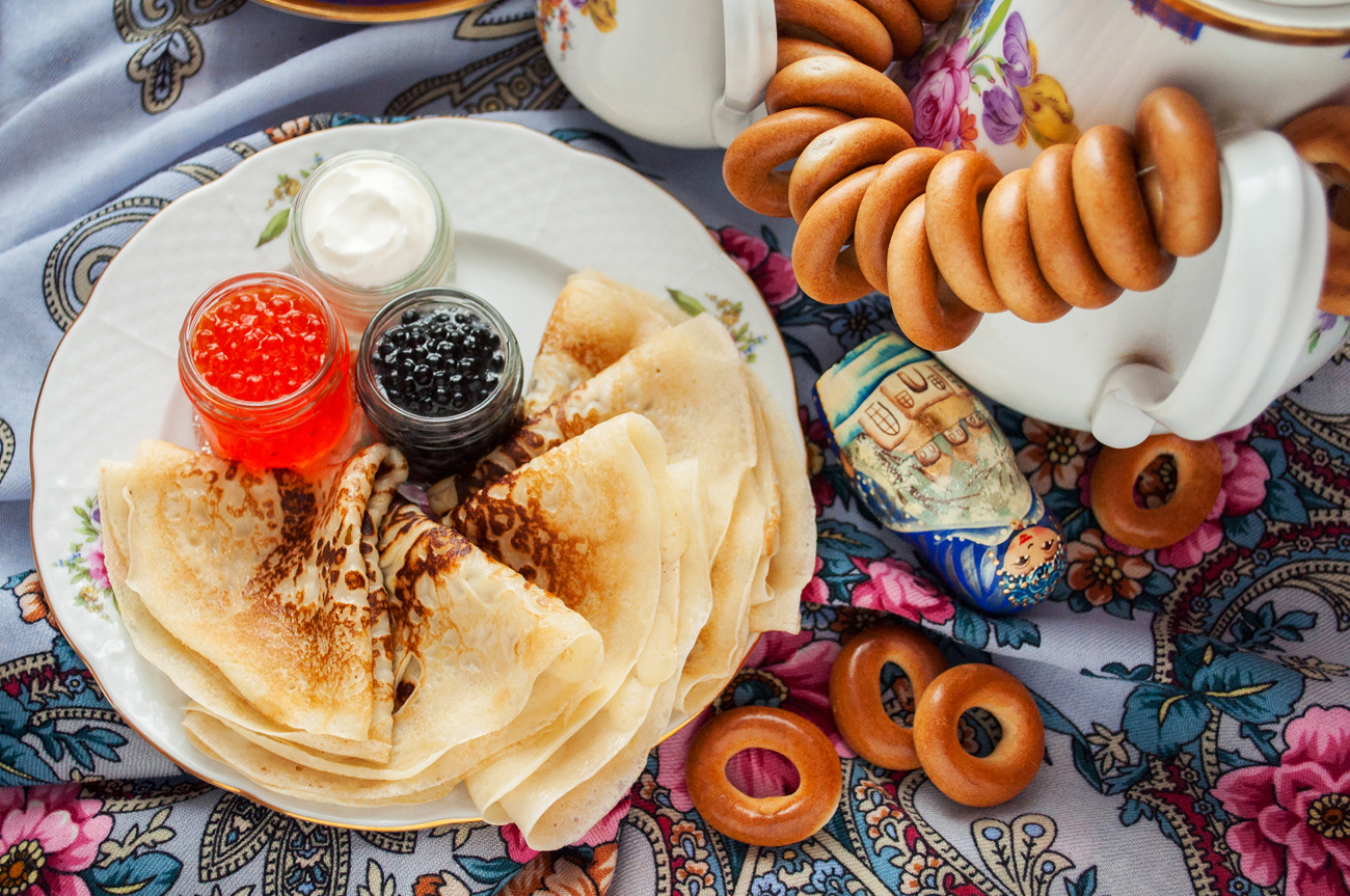 Three factors in traditional Russian cooking