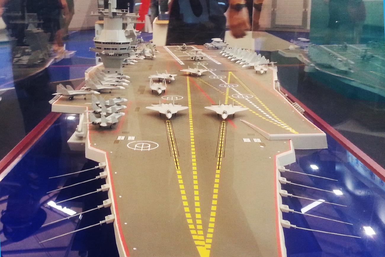 The new 'Shtorm' aircraft carrier, Project 23E000E. / Photo: Artem Tkachenko