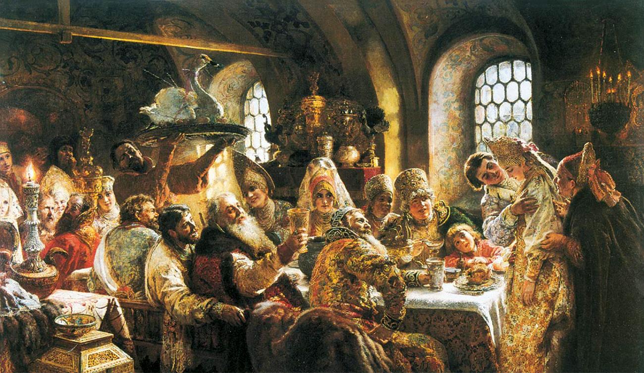 Konstantin Makovsky. A Boyar Wedding Feast (1883)