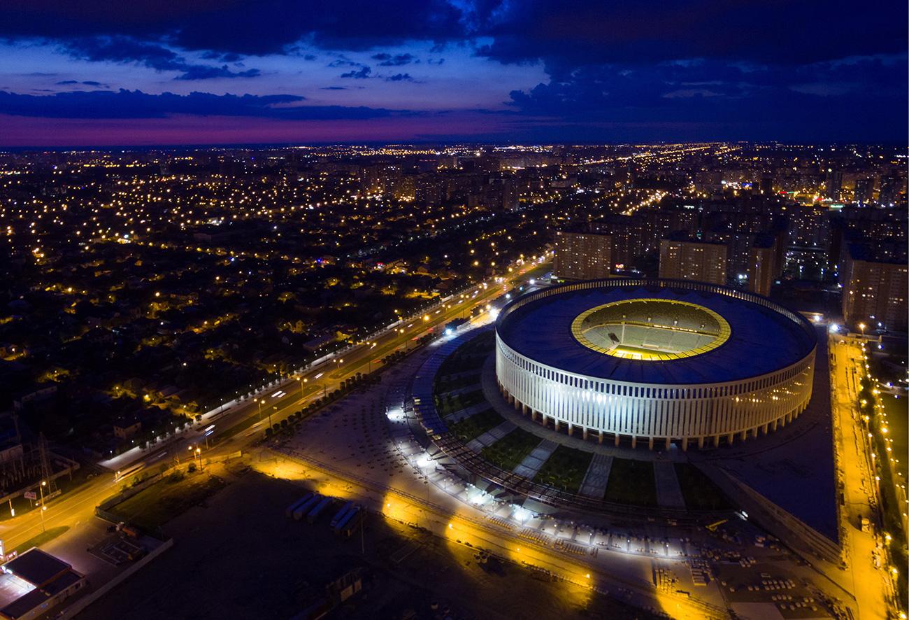 A view of Krasnodar Stadium.