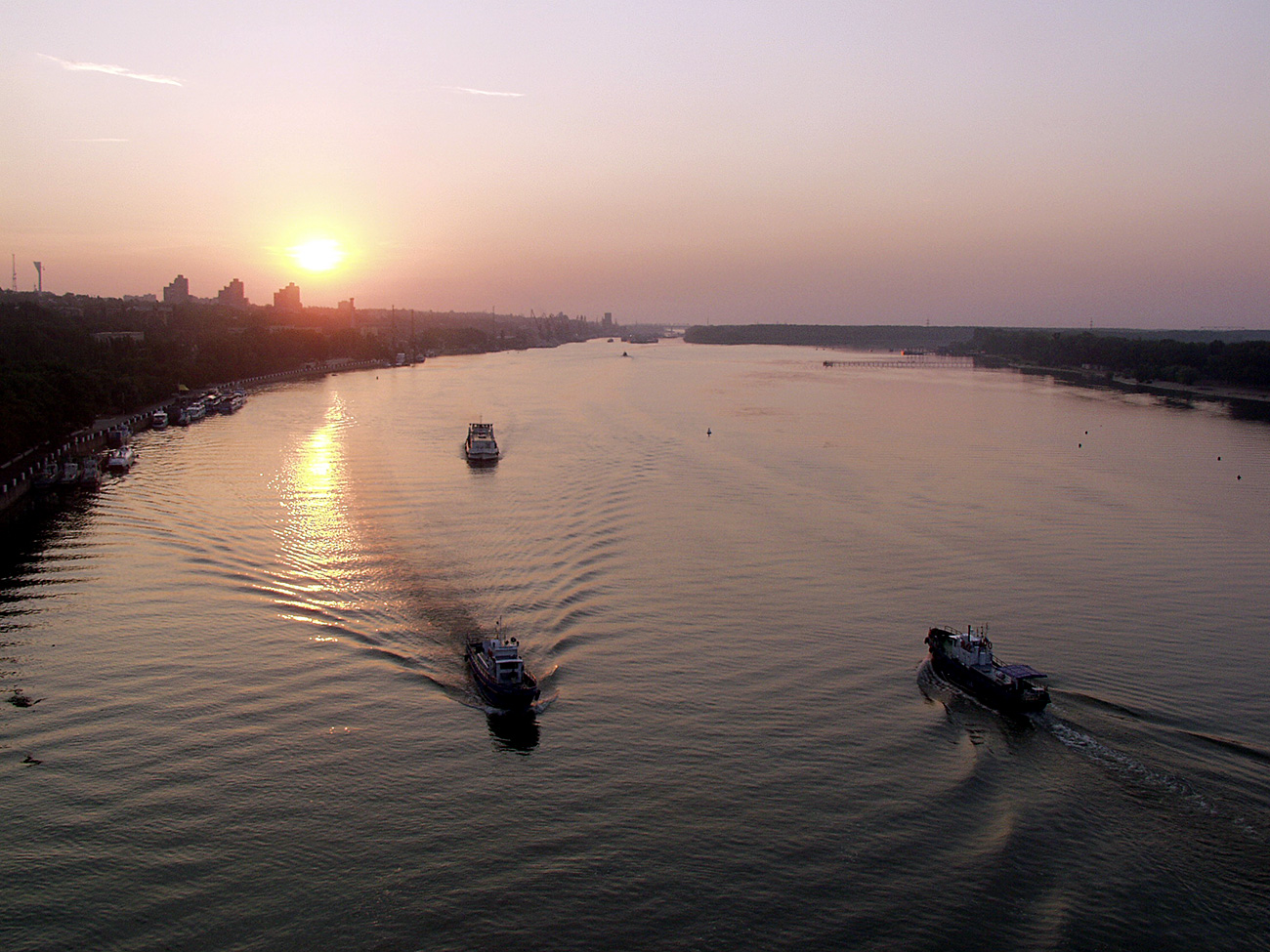 The Don River, dawn,Rostov-on-Don.