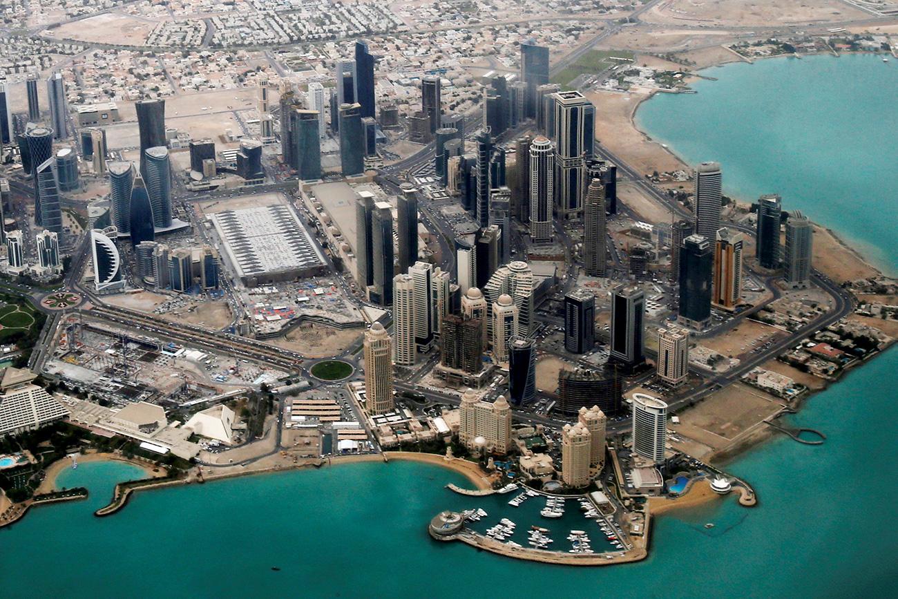 Pemandangan udara area diplomatik Doha. Sumber: Reuters