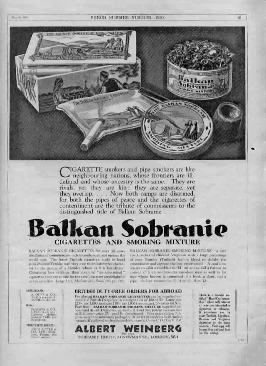 Balkan Sobranie / Arhivska fotografija