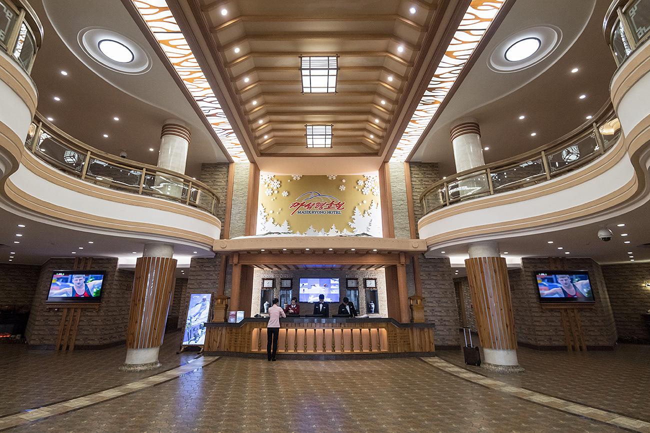 Hotel en Masikryong. Fuente: AFP