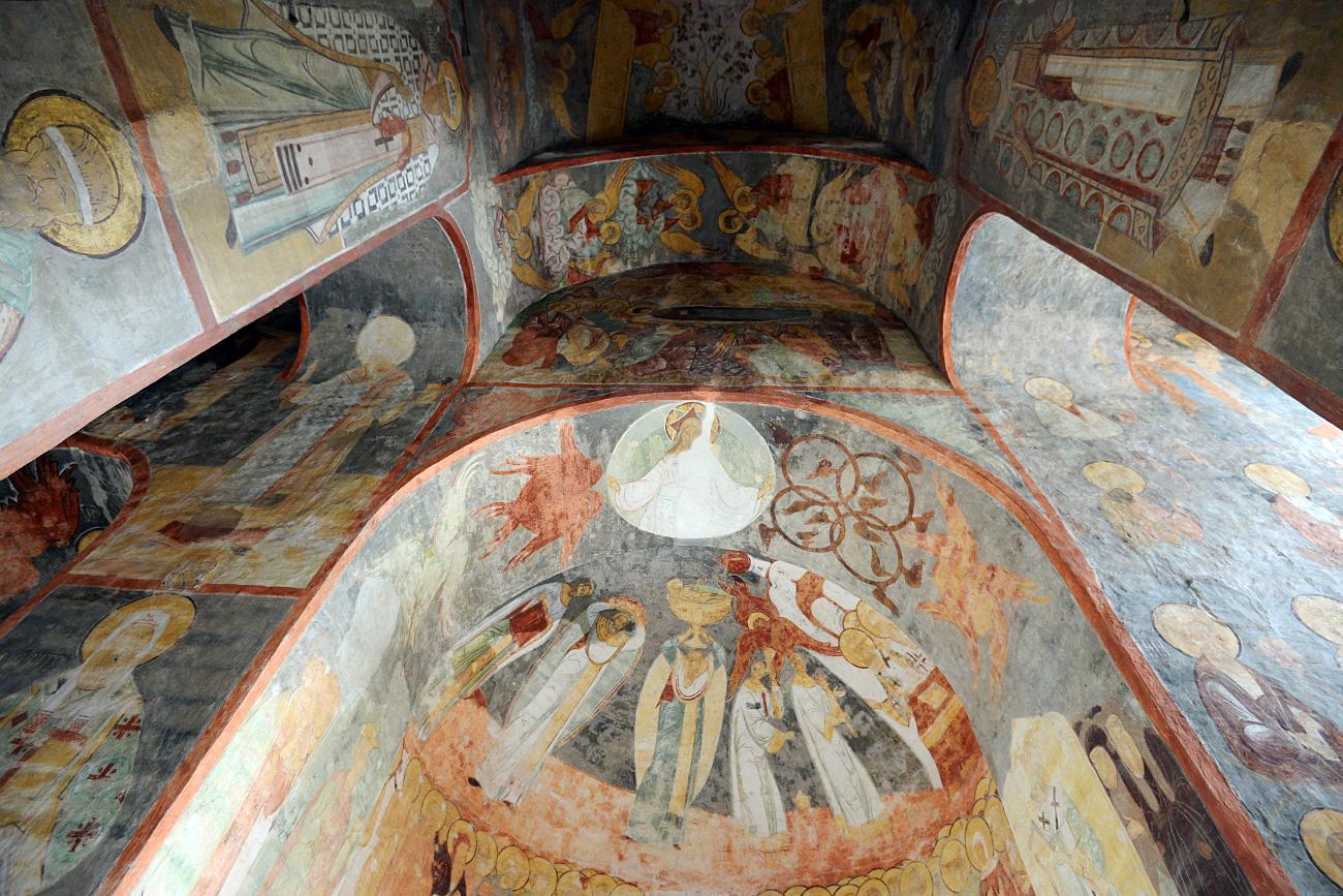 Frescos en la catedral de la Dormición. Fuente: Maksim Bogodvid/RIA Novosti