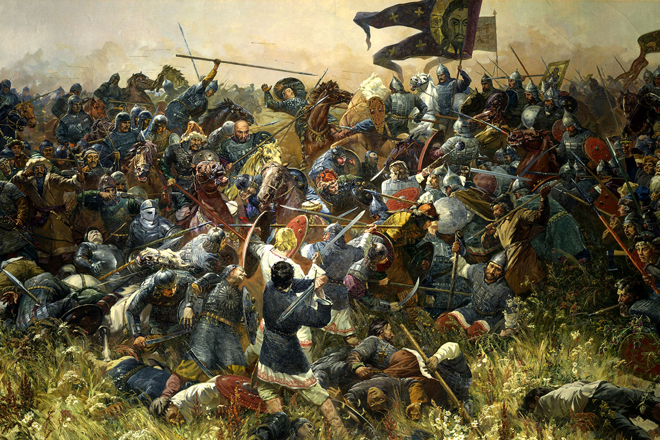 """Batalla de Kúlikovo"", Serguéi Prisekin, 1980. Fuente: Global Look Press"