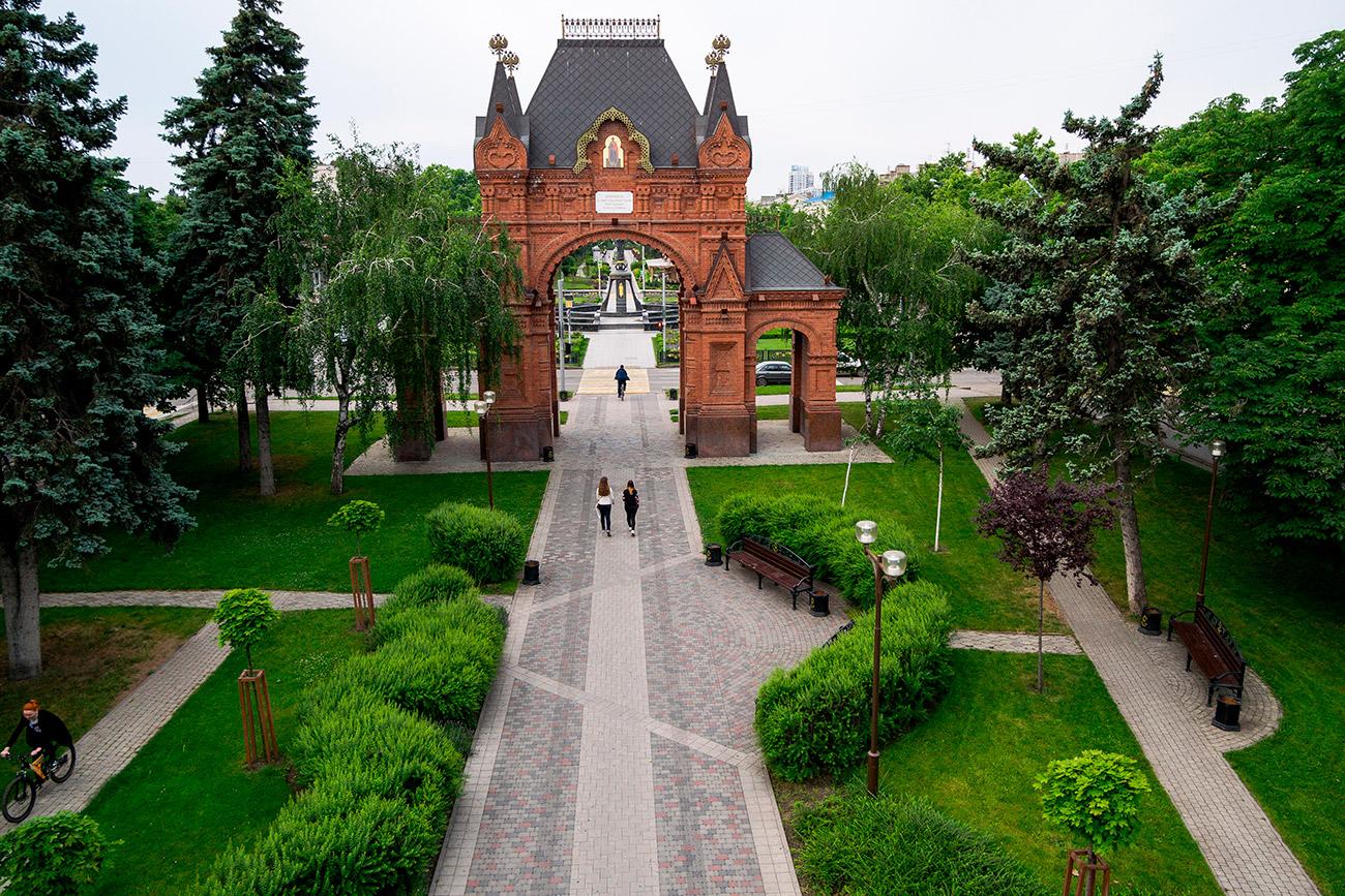 El Arco del Triunfo en Krasnodar. Fuente: Vitali Timkiv/RIA Novosti