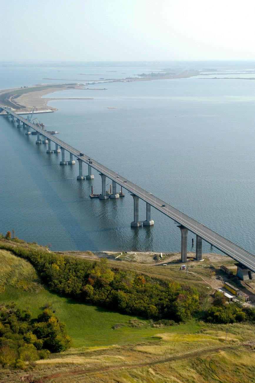 El puente sobre el río Kama en Tatarstán. Fuente: Global Look Press