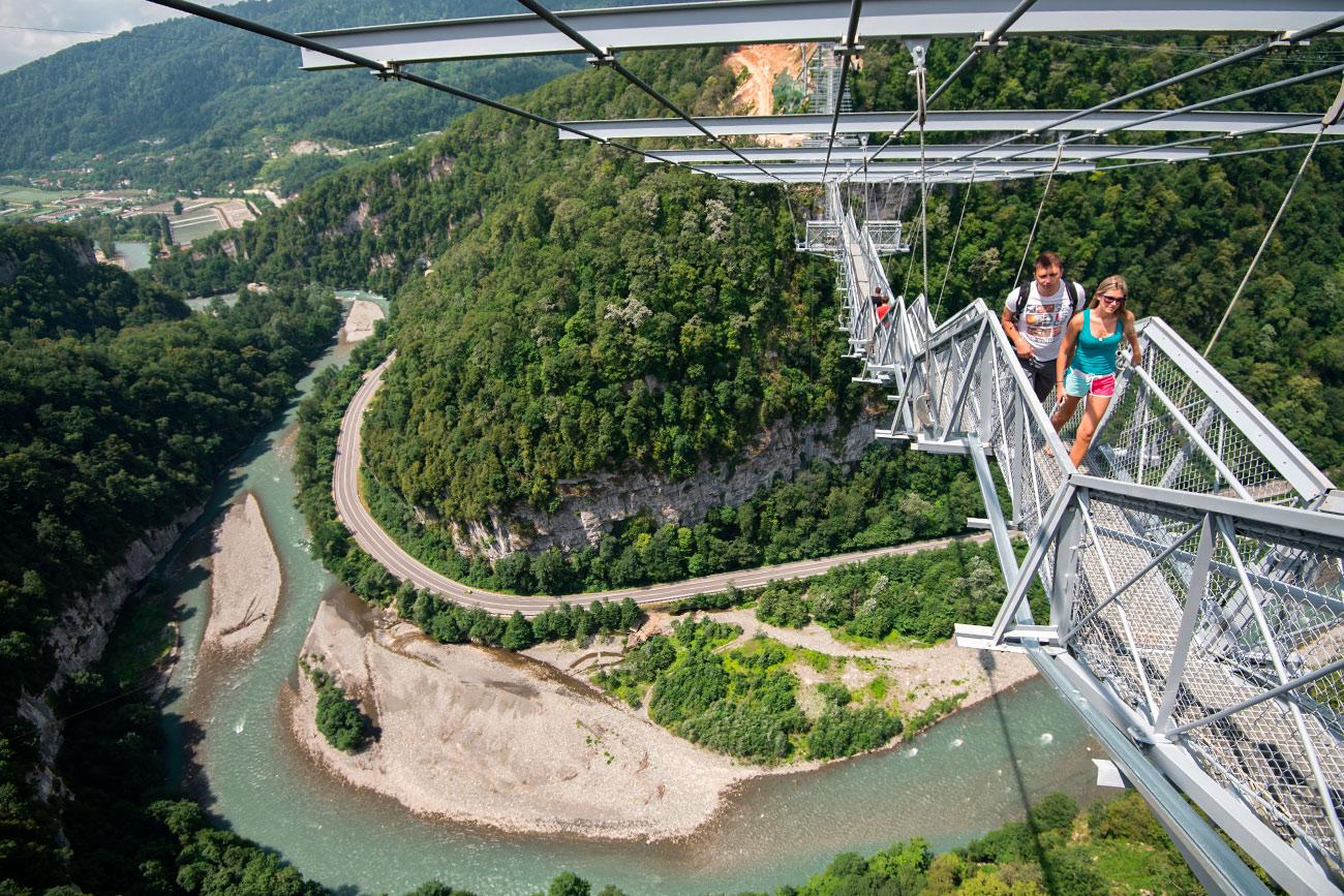 """""""El Puente del Cielo"""" en Sochi. Fuente: Mihaíl Mokrushin/RIA Novosti"""