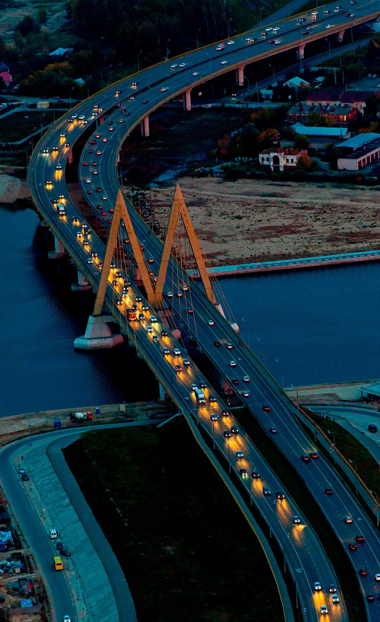 El Puente del Milenio en Kazán. Fuente: Global Look Press