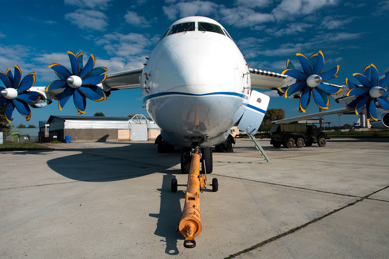 Pesawat An-70 pada pameran kedirgantaraan Aviasvit XXI. Sumber: Marina Lystseva/TASS