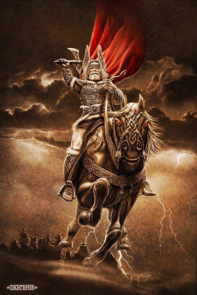 Perun, najvišji bog na slovanskem Panteonu, bog bliska in groma. / Igor Ožiganov