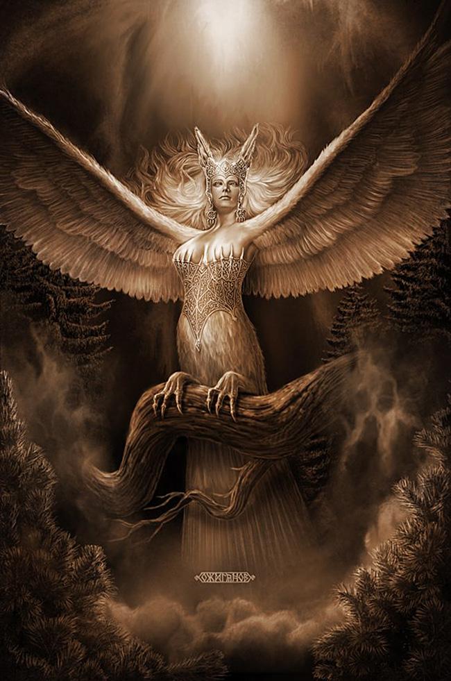 Sirin, kraj bitke proti glavi in trupu lepe ženske ter telesu ptice. / Igor Ožiganov