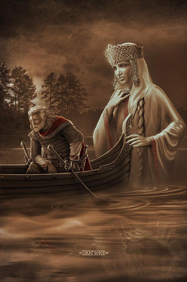 Bereginja, slovanska boginja, ki ščiti samo dobre ljudi, ki si to res zaslužijo. / Igor Ožiganov