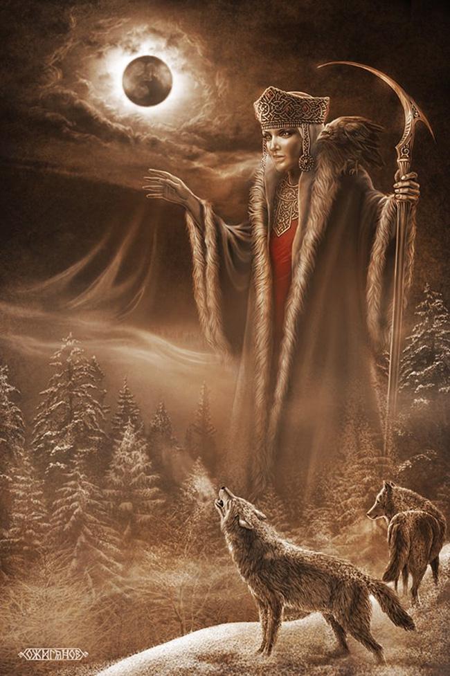 Morana, slovanska boginja, je povezana s sezonskimi rituali, vezanimi na smrt in ponovno rojstvo narave. / Igor Ožiganov