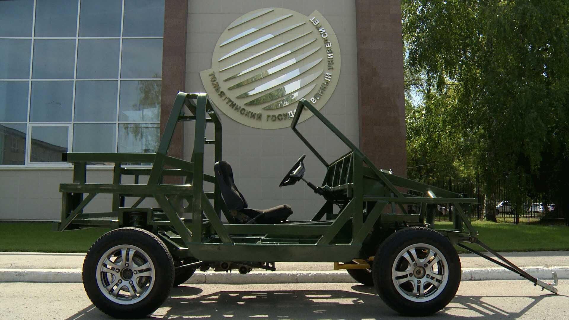 Ауто нема ни кров ни врата, и врло је једноставног изгледа. Извор: Државни универзитет у Тољатију