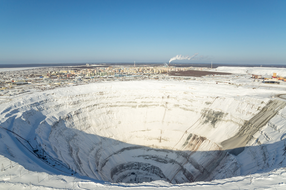 Life atop a Siberian diamond mine