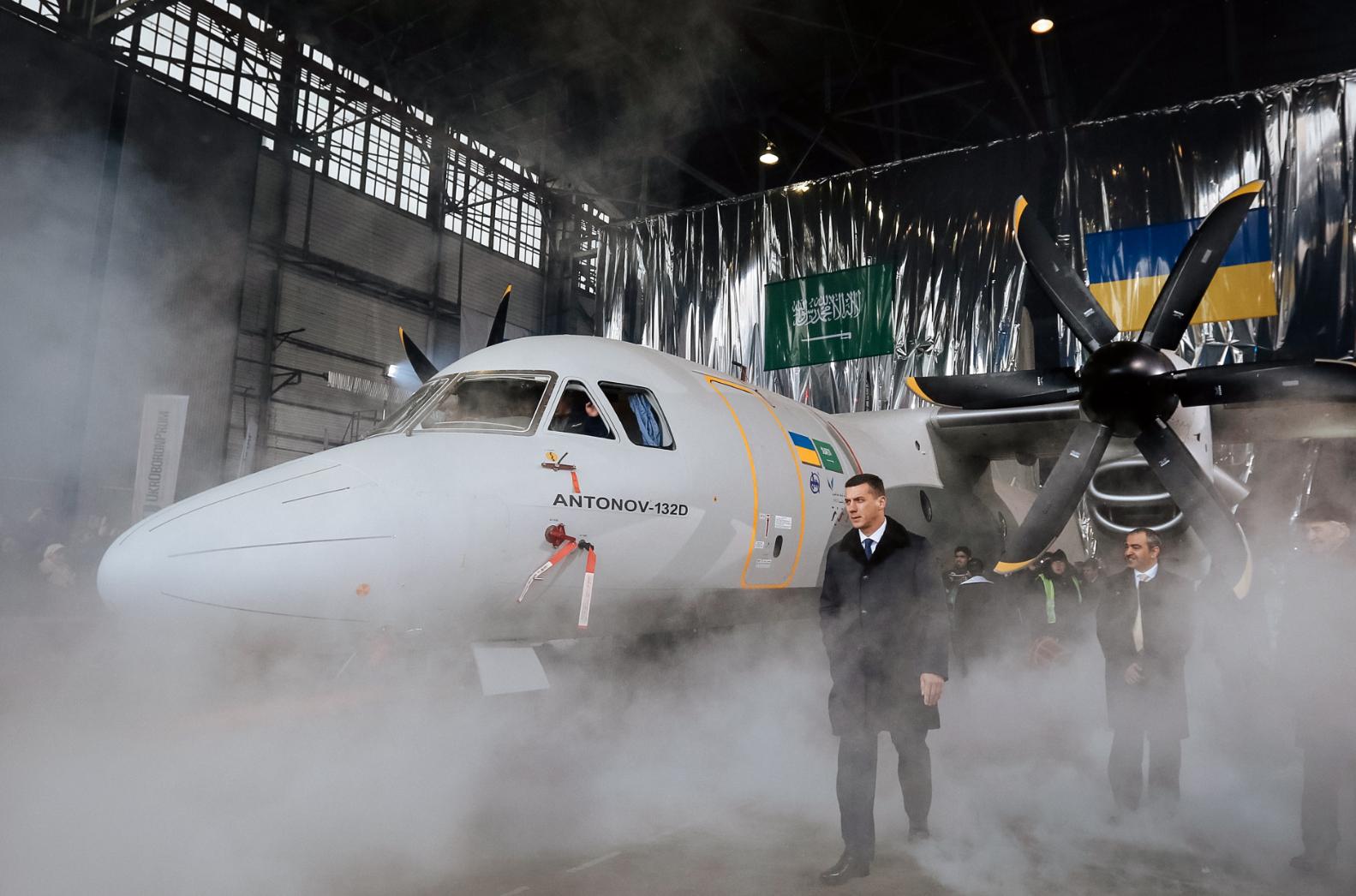 Presentasi pesawat baru An-132D di Kiev pada 2016. Sumber: Vostock-Photo