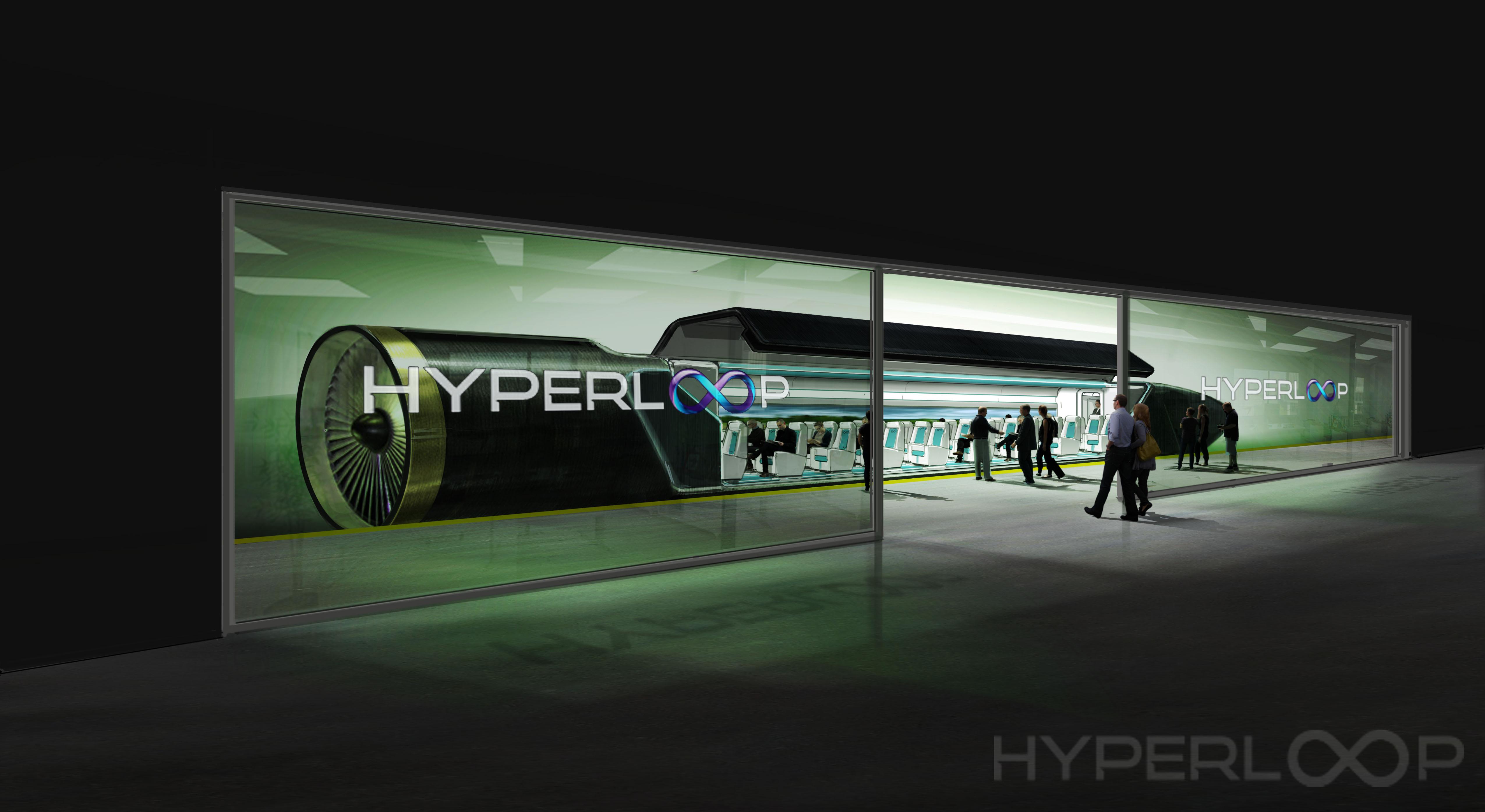 Hyperloop One na postaji. Vir: Press photo
