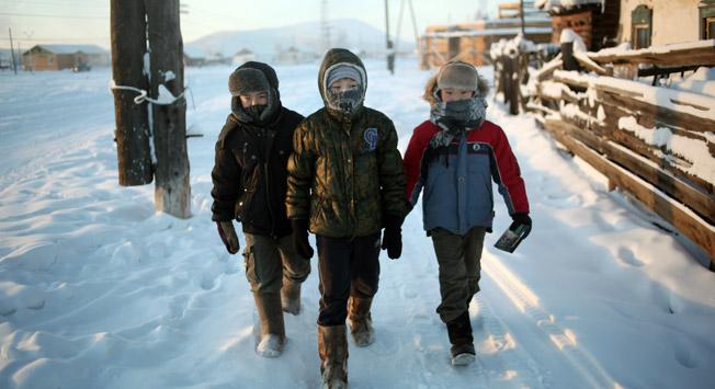 Mladi v Ojmjakonu, ki je sicer znan po velikem številu stoletnikov. Vir: Getty Images/Fotobank