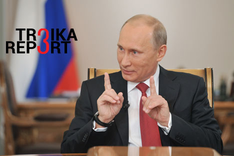 """Russian President Vladimir Putin: """"We're ready for cooperation; we're open and we're not going to pout over the sanctions."""""""