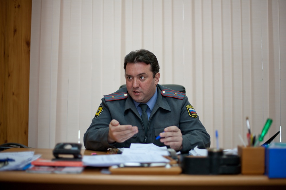 Yury Matyukhin at his desk.