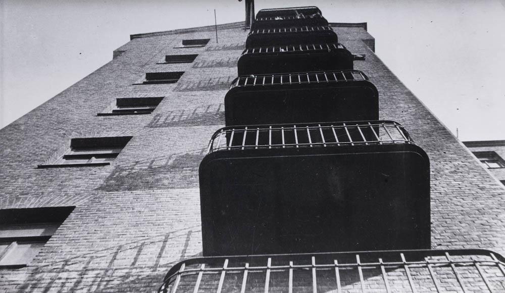 Balkoni na ulici Mjasnickaja, 1925