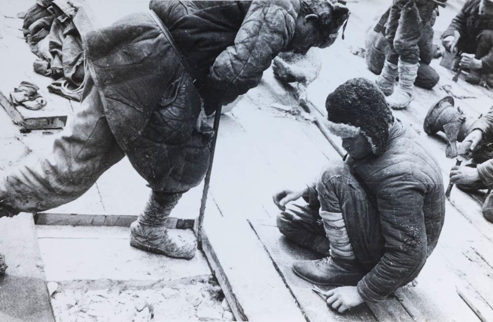 Belomorski kanal, izgradnja ključavnica, 1933
